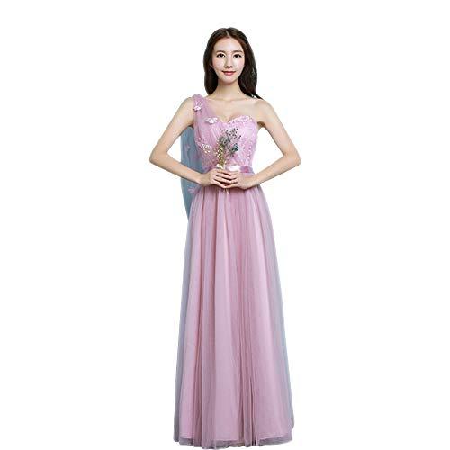 b02439019d12 Elegante Sera Lungo Principessa D onore Vestito Da 5 DonnaSottile Abito  Tulle Rosa Damigella Festa Dazisen a stile thQdxCrBos