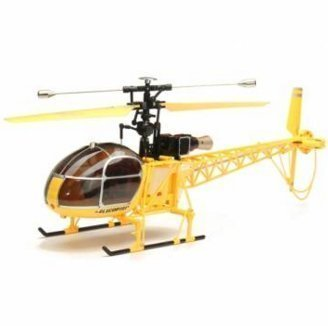 WLtoys V915 2.4G 4CH Scale Lama RC Helicopter BNF (Yellow) by Lovestore2555