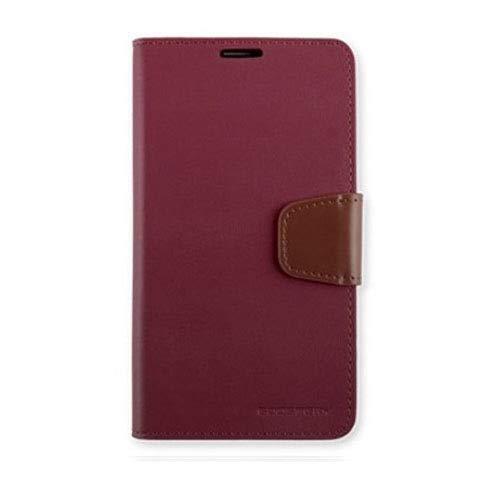 Sonata Wallet Case for Luna TG-L800S (Color: Wine)
