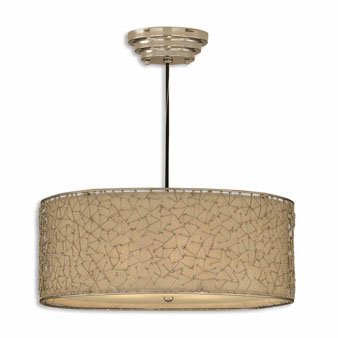 Uttermost 21154 Brandon Silver 3-Light Hanging Shade (Stores Brandon Furniture)