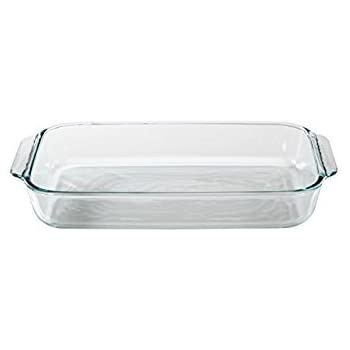 Pyrex Basics 3 Quart Glass Oblong Baking Dish, Clear 8.9 Inch X 13.2 Inch - 3 Qt