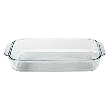 (Pyrex Basics 3 Quart Glass Oblong Baking Dish, Clear 8.9 Inch X 13.2 Inch - 3 Qt)