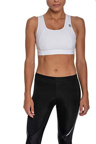 CW-X Conditioning Wear Women's Xtra Support III Running Bra, White, 34BC