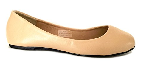 8600 Leopards Ballerina 18 amp; Ballet Shoes Shoes Nude Womens Solids Flat PU qUxOCCPpw