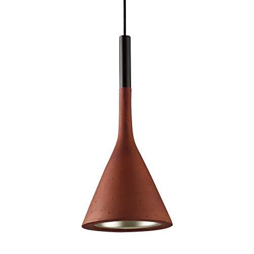 Modernes Design American Industrial Retro Licht Zement Pendelleuchte Loft Nordic Kreative Restaurant Bett Zimmer Pendelleuchte Harz Licht, Rot