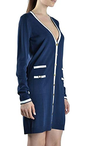 Mujer Azul Blumarine Mcbi9678 Viscosa Vestido SYwSdvqZx