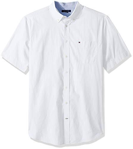 Tommy Hilfiger Men's Big and Tall Button Down Short Sleeve Shirt Maxwell, bright white, BG- - Shirt Tommy Hilfiger Oxford
