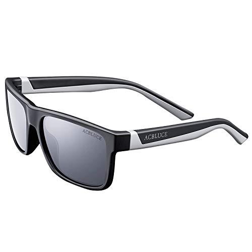 Junior Sport Swiss - Polarized Sunglasses for Kids Boys Children Teen Youth Junior Baseball Cycling Running Sport Glasses, Matte Black/Grey Frame grey Lense