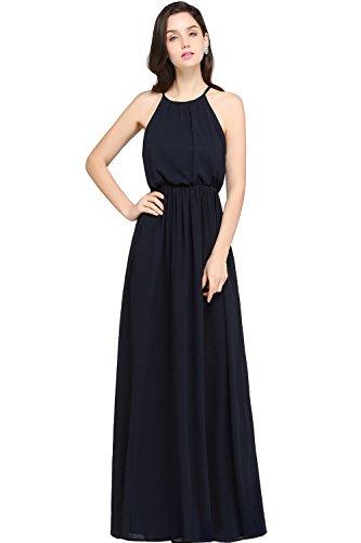 Babyonlinedress Halter Vintage Chiffon Women's Maxi Casual Dress,Black,14