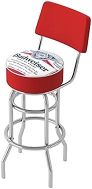 Trademark Gameroom Budweiser Chrome Padded Swivel Bar Stool with Swivel