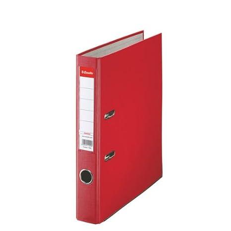 Leitz 81193 - Archivador plástico con anillas A4 color verde rojo: Amazon.es: Oficina y papelería