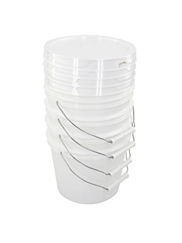 Bucket Kit, Four 1 Gallon Buckets with White Snap-on Lids