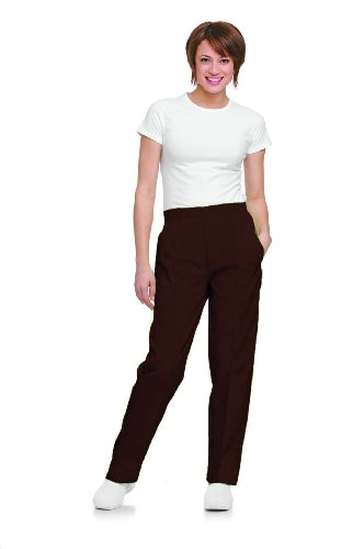 Landau 8320 Women's Classic Tapered Leg Pant Cocoa 3X-Large Tall (Cocoa Couture)