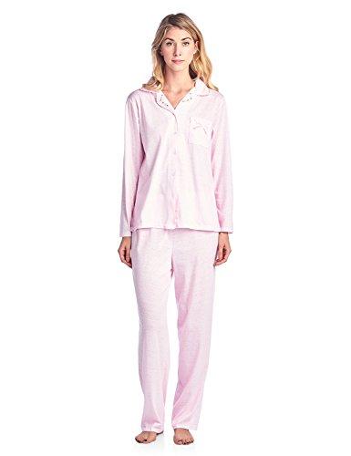 (Casual Nights Women's Sleepwear Long Sleeve Pinstripe Pajama Set - Pink - XX-Large)