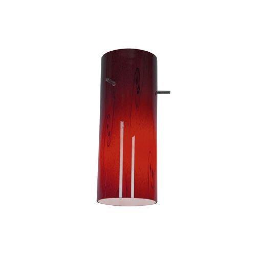 Access Lighting 23130-RUSKY Cylinder Pendant Glass Shade, Red Sky Glass Finish - Cylinder Pendant Lighting