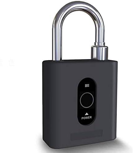 スマート南京錠ブルートゥースモバイルAPP制御キャビネット小さなロック倉庫のドア盗難防止lock13 * 8 * 4.2 Cm (Color : Black)