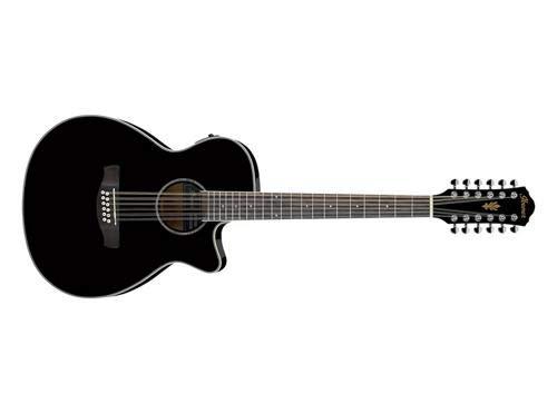 (Ibanez AEG1812II Acoustic/Electric 12-string - Black High Gloss)