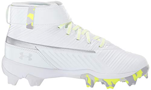 Under Armour Boys' Harper 3 Mid Jr. RM Baseball Shoe, (100)/White, 1.5 by Under Armour (Image #11)