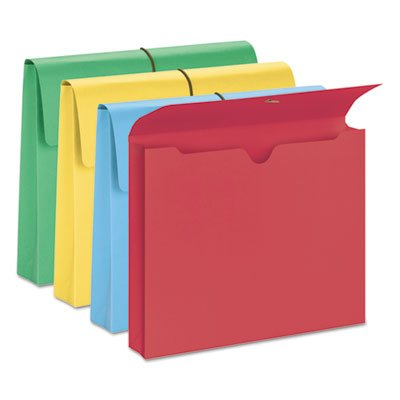 2'''' Accordion Expansion Wallet, Elastic Cord, Ltr, Blue/Green/Red/Yellow, 50/Box, Sold as 50 Each
