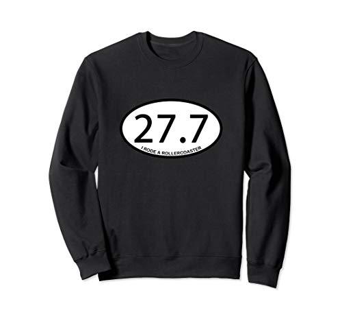 (Funny Theme Park Rollercoaster Marathon Distance Oval Logo Sweatshirt)