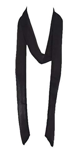 (Solid color, Summer skinny scarf (BLACK))