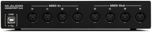 64x64 Discrete Channels I//O via USB M-Audio MIDISPORT 4x4 Anniversary Edition 4-in//4-out MIDI Interface