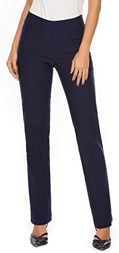 iChosy Women's Pull On Barely Bootcut Stretch Dress Pants (Small x 32