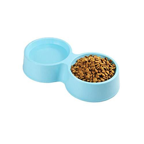 Xian ,Cat Bowl, Cat Bowl, Cat and Cat Daily Necessities, Pet Cat Bowl, Pussy Puppies Bowl Ceramic Cat Food Bowl Small Black Cat Blue (Color : Blue)