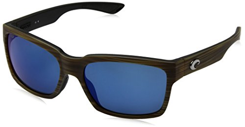 Costa Del Mar Playa Polarized Sunglasses Matte Verde Teak/Black Frameblue Mirror 580p