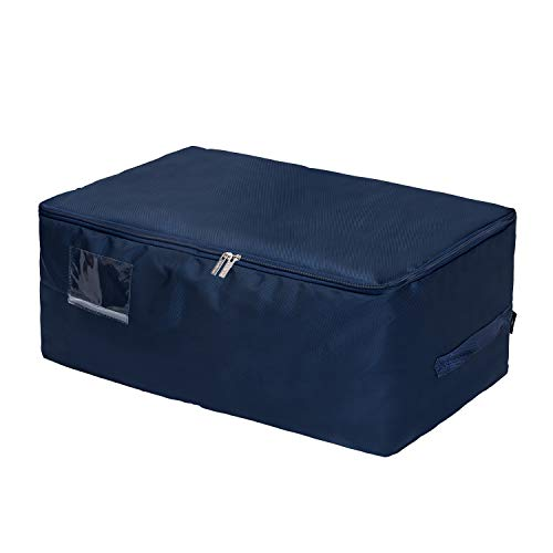 DOKEHOM DKA1014DBXXL2 XX-Large Under Bed Storage Bag (5 Colors, L and XXL), Thick Ultra Size Fabric Clothes Bag, Moisture Proof (Dark Blue, XXL)