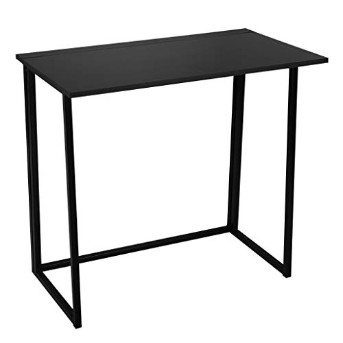 iHPH7 Simple Study Desk Folding Laptop Table for Home Office Desk (31.5x17.7x29.1inches (80x46x74cm),Black)