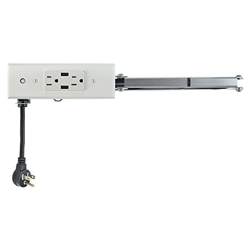 Docking Drawer 24 Slim In-Drawer Charging Outlet featuring 2AC and 2 USB ports, Listed to UL 962a, Easy to Install