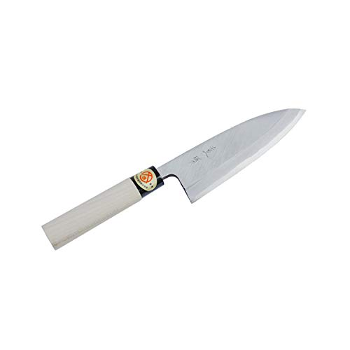 ''SHIGEKATSU'' Deba Hocho (Kitchen Knife) 165mm for Right Hander, Blade Edge : SK Material