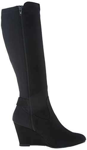 Cl Av Chinese Laundry Kvinna Levande Boot Black Super Mocka