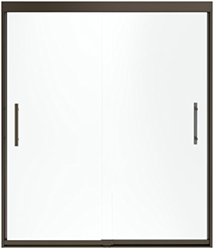 (STERLING 547808-59DR-G05 Finesse Peak Sliding Shower Door, 70-1/16 by 59-5/8-Inch Max Opening with Smooth Clear Glass, Deep)