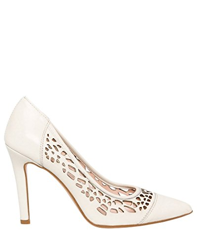 LE CHÂTEAU Women's Italian-Made Leather High Heel Pump,36,Ivory (Italian Women Shoes Leather)