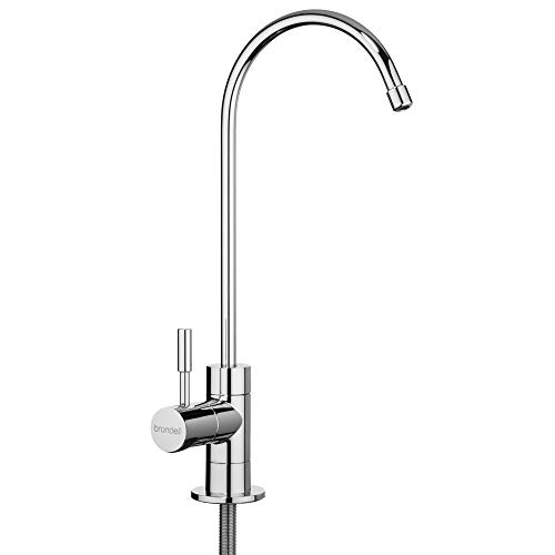 Brondell – Water Filter Faucet in Chrome with LED filter change indicator for 6 month Water Filtration systems | sink faucet for drinking water | Modern style in Polished Chrome