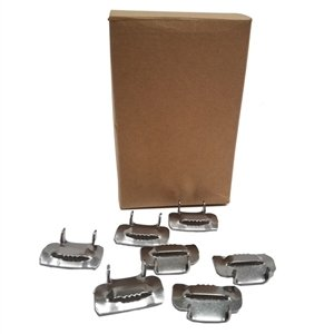 1/2'' stainless steel Type 201 buckles (100 per Box) Use with 1/2'' SS Type 201 banding