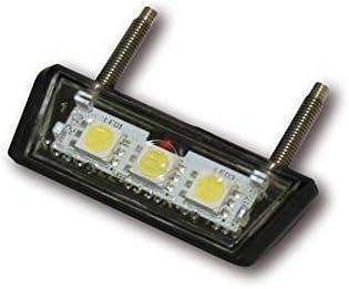 Color Negro Koso Mini iluminaci/ón LED para matr/ícula