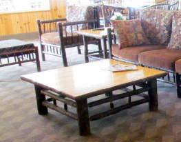 Hickory Log Coffee Table