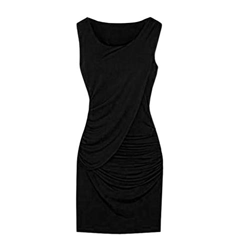 - Cocktail Dresses for Women Plus Size,SMALLE◕‿◕ Women Ele Party Bodycon Dress Summer Sleeveless Wrap Dress Black