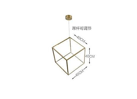 Lampara L/ámpara De Techo L/ámpara Colgante Ara/ña De Luces Cuadrado Minimalista Posmoderno Con Decoraci/ón Irregular Geom/étrica.