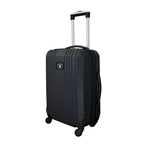 Denco NFL Oakland Raiders Round-Tripper Two-Tone Hardcase Luggage Spinner from Denco
