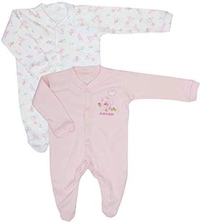 Baby Playsuit; Nursery Time Teddy Design 100/% Cotton