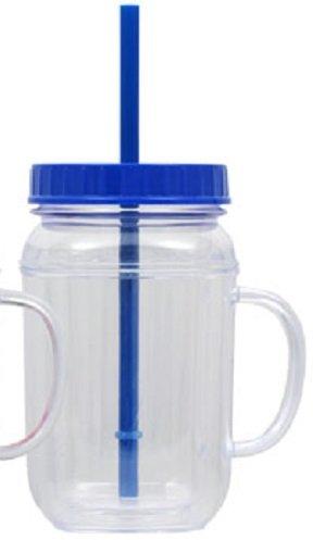Amazoncom Plastic Mason Jar Mugs With Lids Straws 165 Oz
