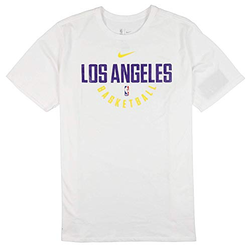 Nike Men's Los Angeles Lakers Player Practice T-Shirt Small White ()