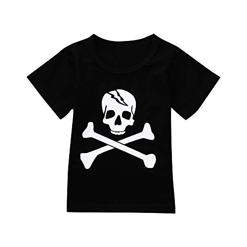 Star_wuvi Tops Toddler Infants Kids Boys Girl Skull Print Tops Romper Halloween Costume Brother-Sister Outfits (6T) ()