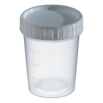 Graduated Sample Containers, PP, Non-Sterile with White Tab, 4 ()