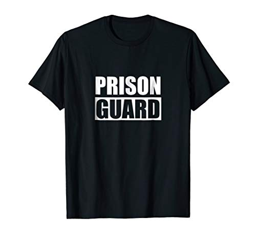 Prison Guard Costume T Shirt Cool And Funny