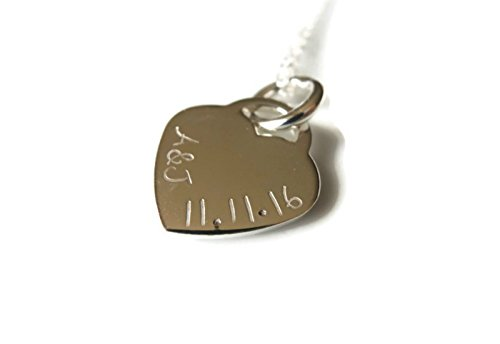 Christmas by Streten Anniversary Birthday Personalised Name Necklace Sterling Silver